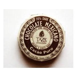 "Disques de chocolat ""TAZA"" Pur 70%"