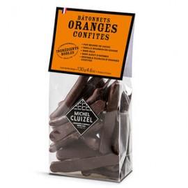 Bâonnets d'Oranges Confites Enrobés de Chocolat Noir