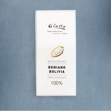 Tablette Chocolat Noir Oialla – 100% de Cacao