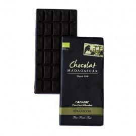Tablette de chocolat noir 85% certifiées BIO